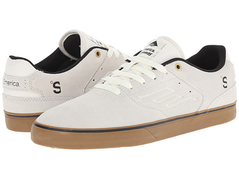 Emerica - The Reynolds Low Vulc X The Skateboard Mag (White/Gum) Men