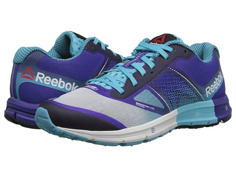 Reebok - One Cushion 2.0 (White/Neon Blue/Ultima Purple) Women's Shoes