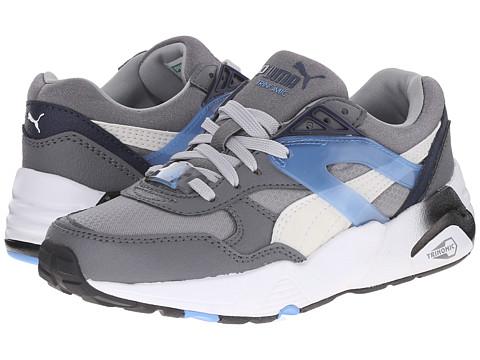 Puma Kids - R698 Mesh Neoprene (Little Kid/Big Kid) (Steel Gray/White) Boys Shoes