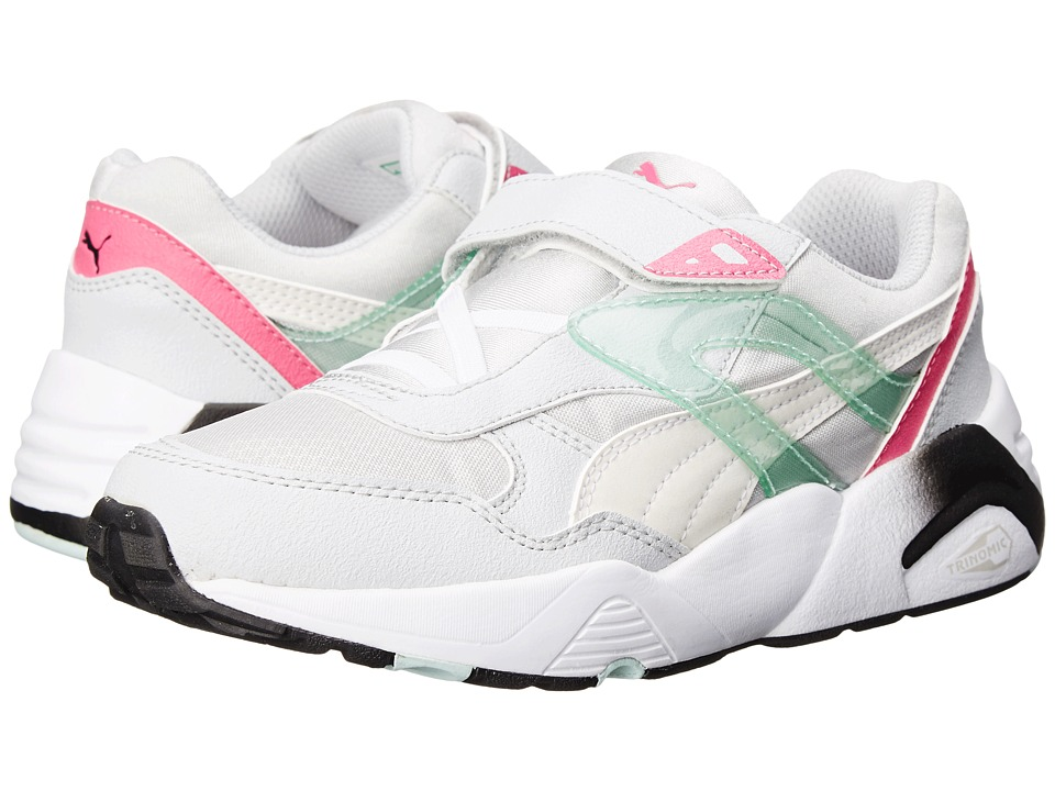 Puma Kids - R698 Mesh Neoprene V (Toddler/Little Kid/Big Kid) (Glacier Gray/White) Girls Shoes