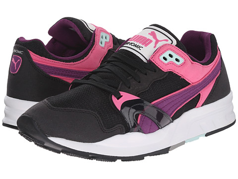 Puma Kids - Trinomic XT1 Plus (Little Kid/Big Kid) (Black/Drape Juice/Carmine Rose) Girls Shoes