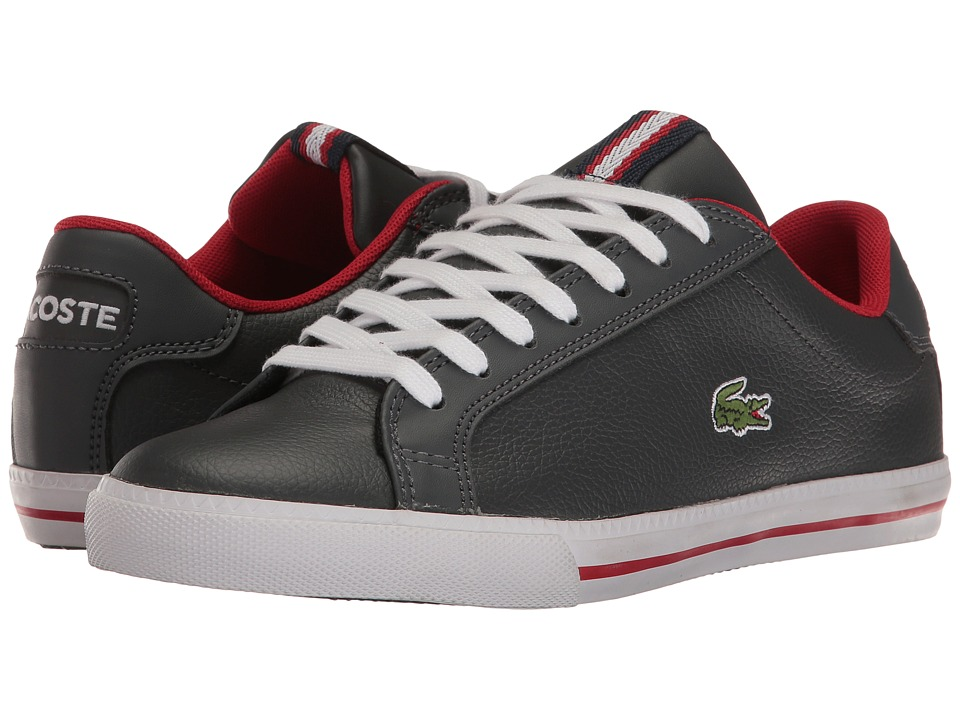 Lacoste - Grad Vulc PMN (Dark Grey/Red) Men's Shoes