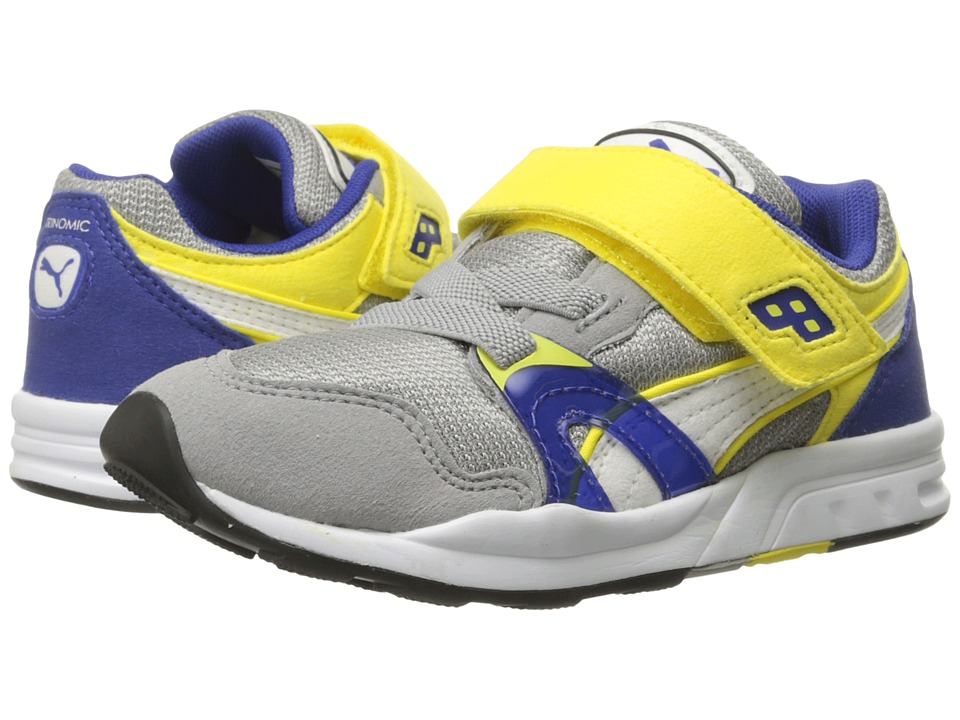 Puma Kids - Trinomic XT1 Plus V (Toddler/Little Kid/Big Kid) (Drizzle/White/Blazing Yellow) Boys Shoes