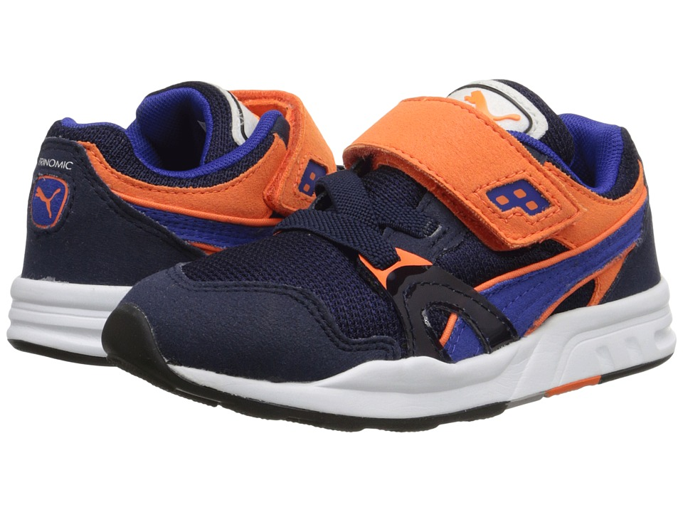 Puma Kids - Trinomic XT1 Plus V (Toddler/Little Kid/Big Kid) (Peacoat/Surf The Web/Vermillion Orange) Boys Shoes