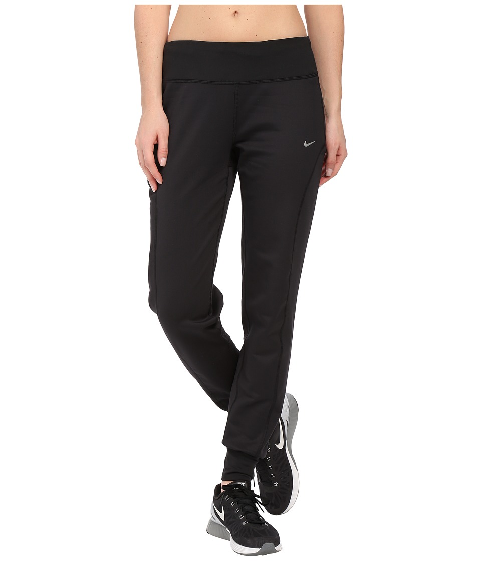 Nike - Thermal Running Pant (Black/Reflective Silver) Women's Workout