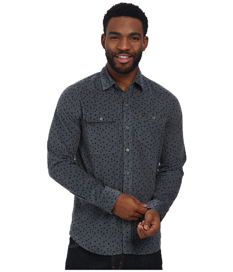 Volcom - Burns Long Sleeve Shirt (Dusty Bowl Blue) Men's Long Sleeve Button Up