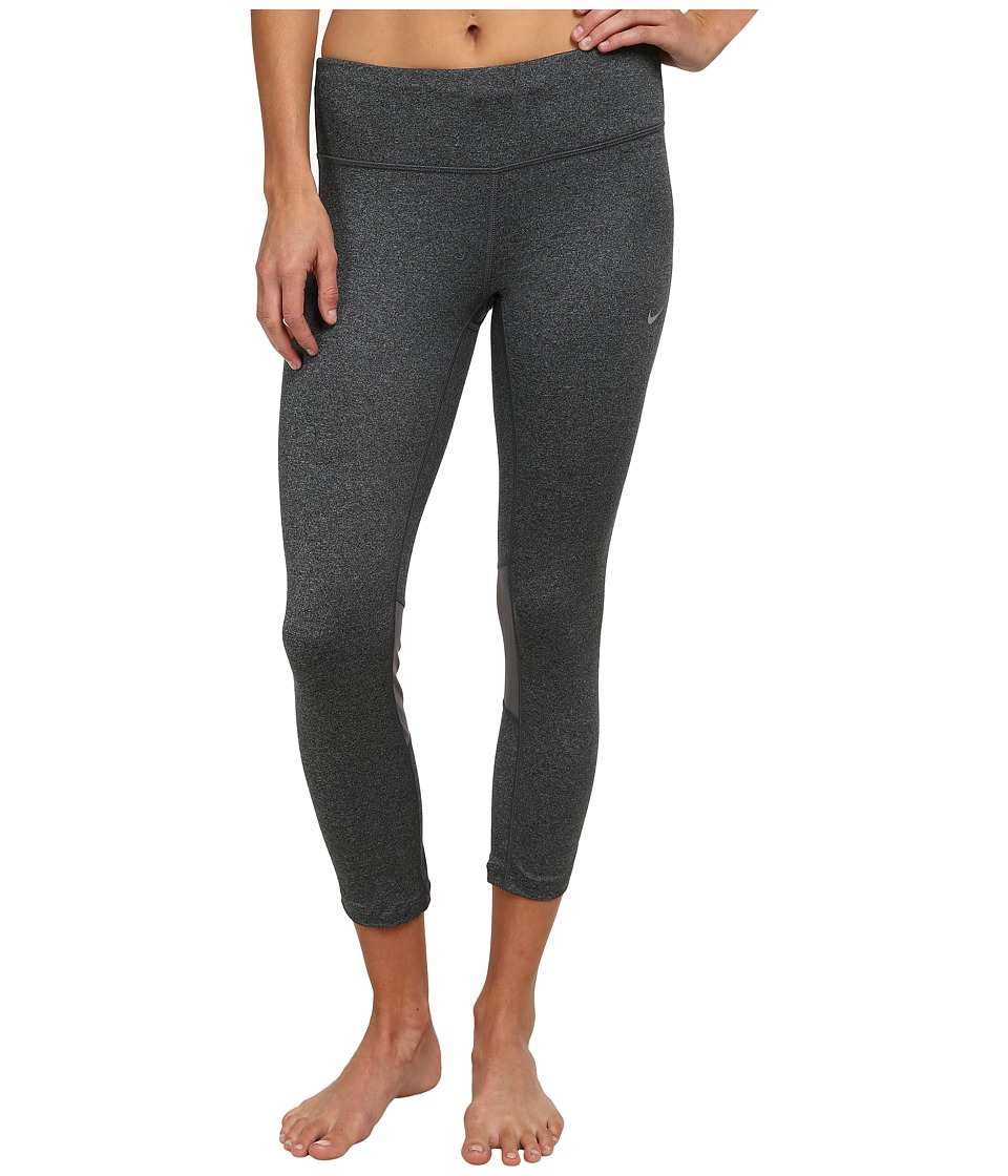 Nike - Dri-FIT Epic Run Crop (Black/Cool Grey/Heather/Reflective Silver) Women's Workout