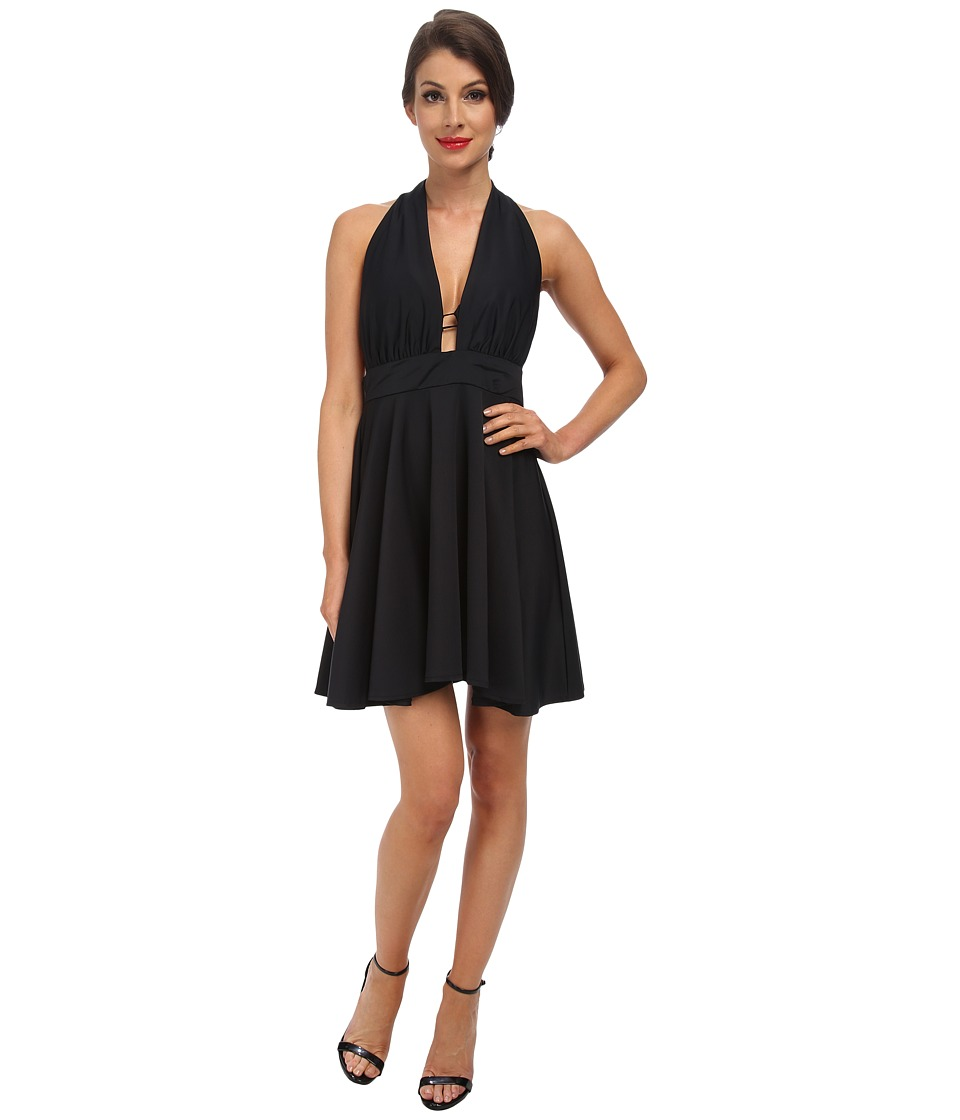 Unique Vintage - Marion Swim Dress (Black) Women's Swimwear