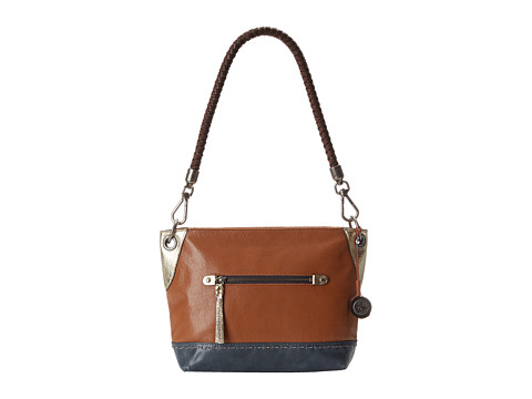 The Sak - Indio Leather Demi (Golden Tobacco Block) Shoulder Handbags