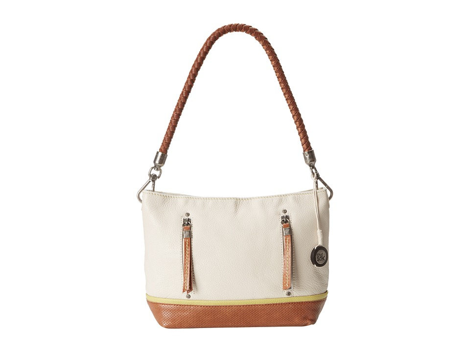The Sak - Indio Leather Demi (Stone/Tobacco Perf) Shoulder Handbags