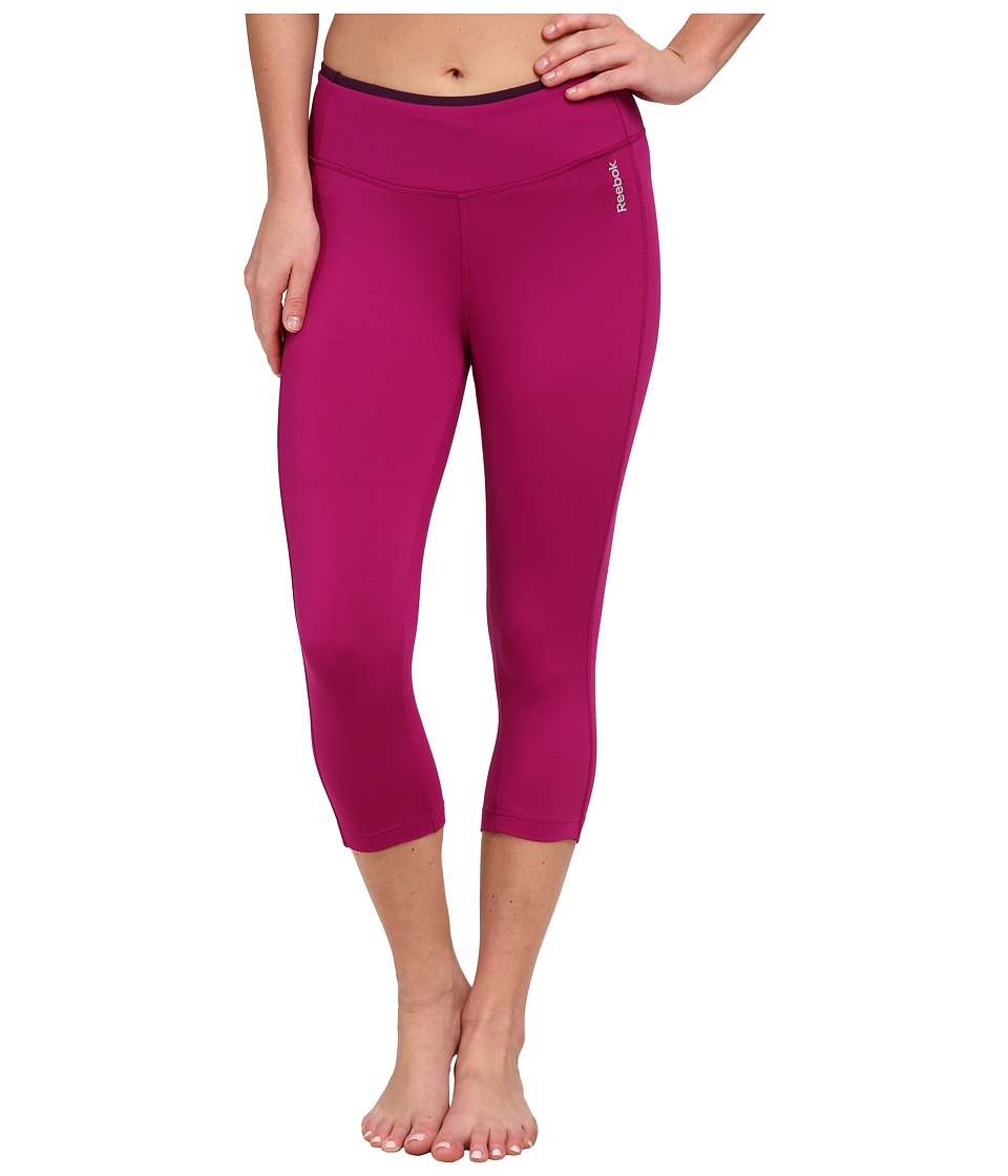 Reebok - Sport Essentials Capri (Fierce Fuchsia/Royal Orchid) Women's Capri