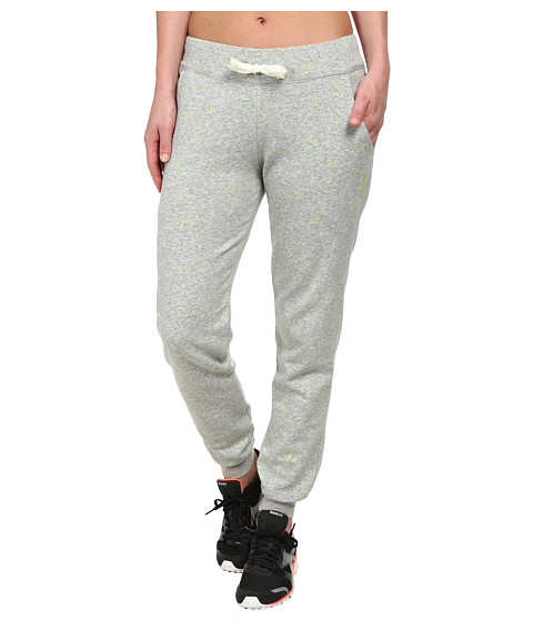 Reebok - Elements Neon Slub Cuffed Pants (Medium Grey Neon Slub) Women's Casual Pants