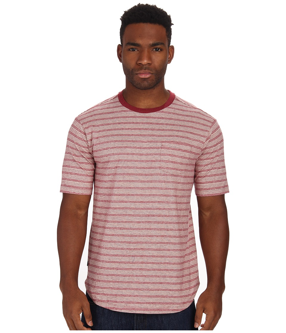 Obey Hernandez Pocket Tee (Burgundy) Men