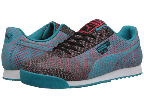 PUMA - Roma Woven Mesh (Black/Capri Breeze) Men