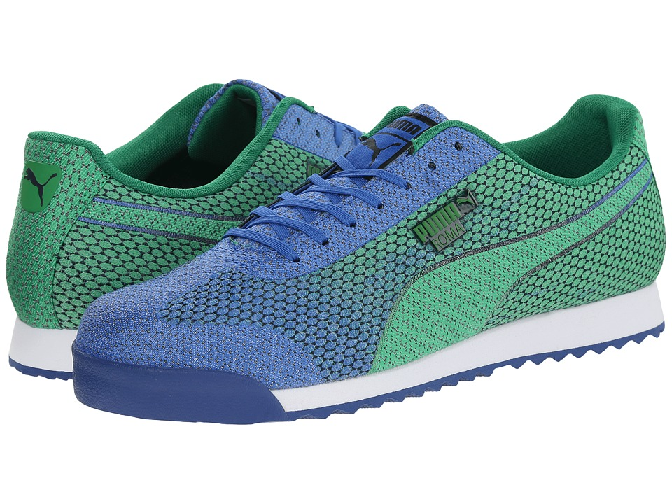 PUMA - Roma Woven Mesh (Strong Blue/Fern Green) Men's Shoes