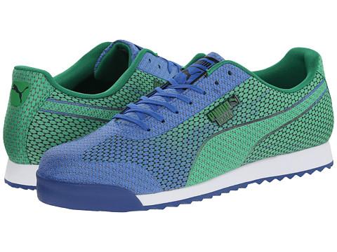 PUMA - Roma Woven Mesh (Strong Blue/Fern Green) Men's Shoes
