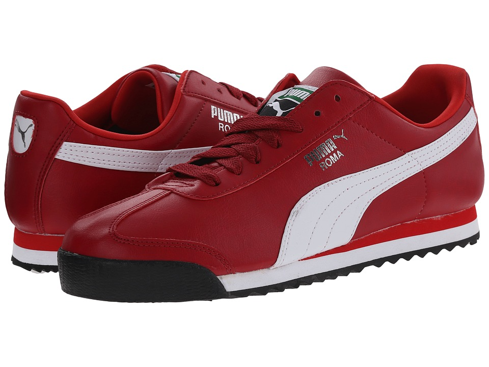 PUMA - Roma Basic (Rio Red/White) Men's Shoes