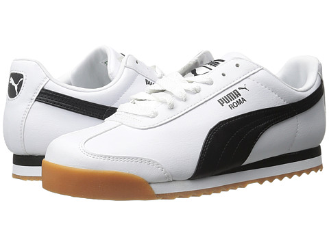 PUMA - Roma Basic (White/Blac) Men's Shoes