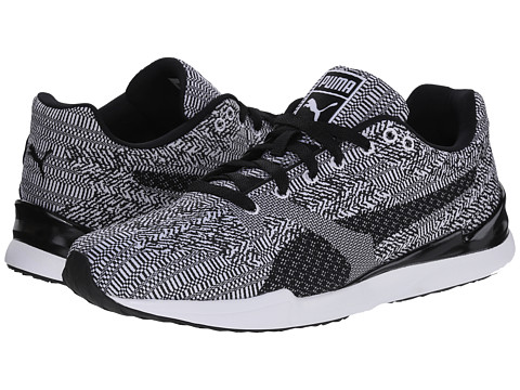 PUMA - Future XS500 Swift Woven Mesh (White/Black) Men's Shoes
