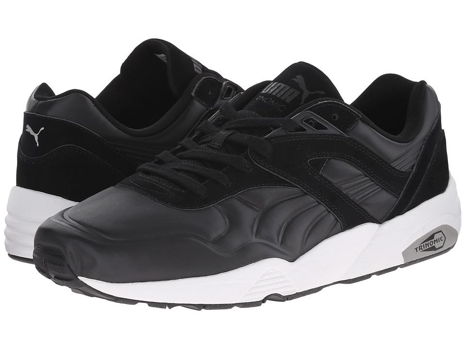 PUMA - R698 Matt Shine (Black/Black/White Canvas) Men's Shoes