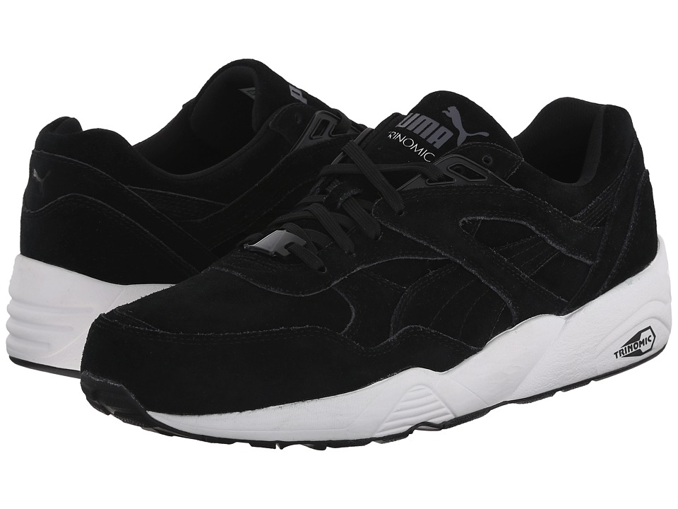PUMA - R698 Allover Suede (Black/White/Black) Men's Shoes