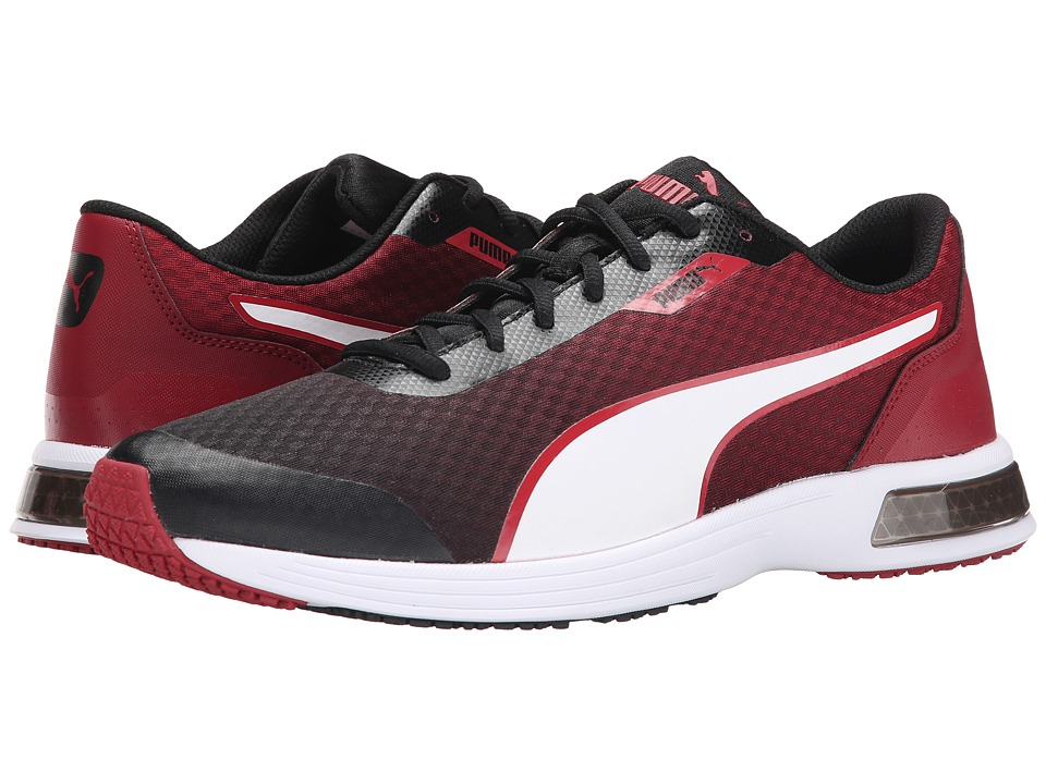 PUMA - T 74 Tech (Black/White/Rio Red) Men's Shoes