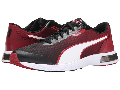 PUMA - T 74 Tech (Black/White/Rio Red) Men's Shoes