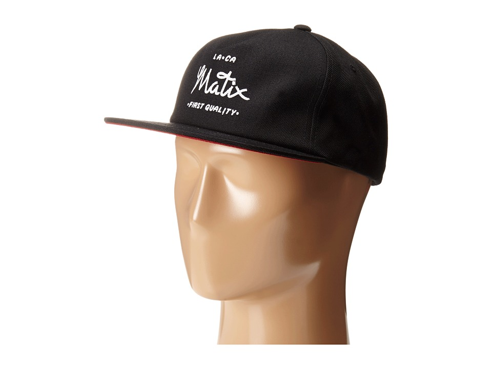 Matix Clothing Company - First Quality Hat (Black) Caps