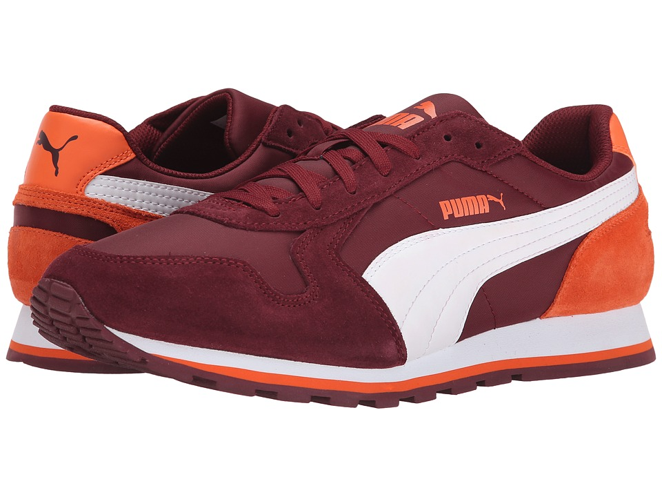 PUMA - ST Runner NL (Cabernet/White/Vermillion Orange) Men