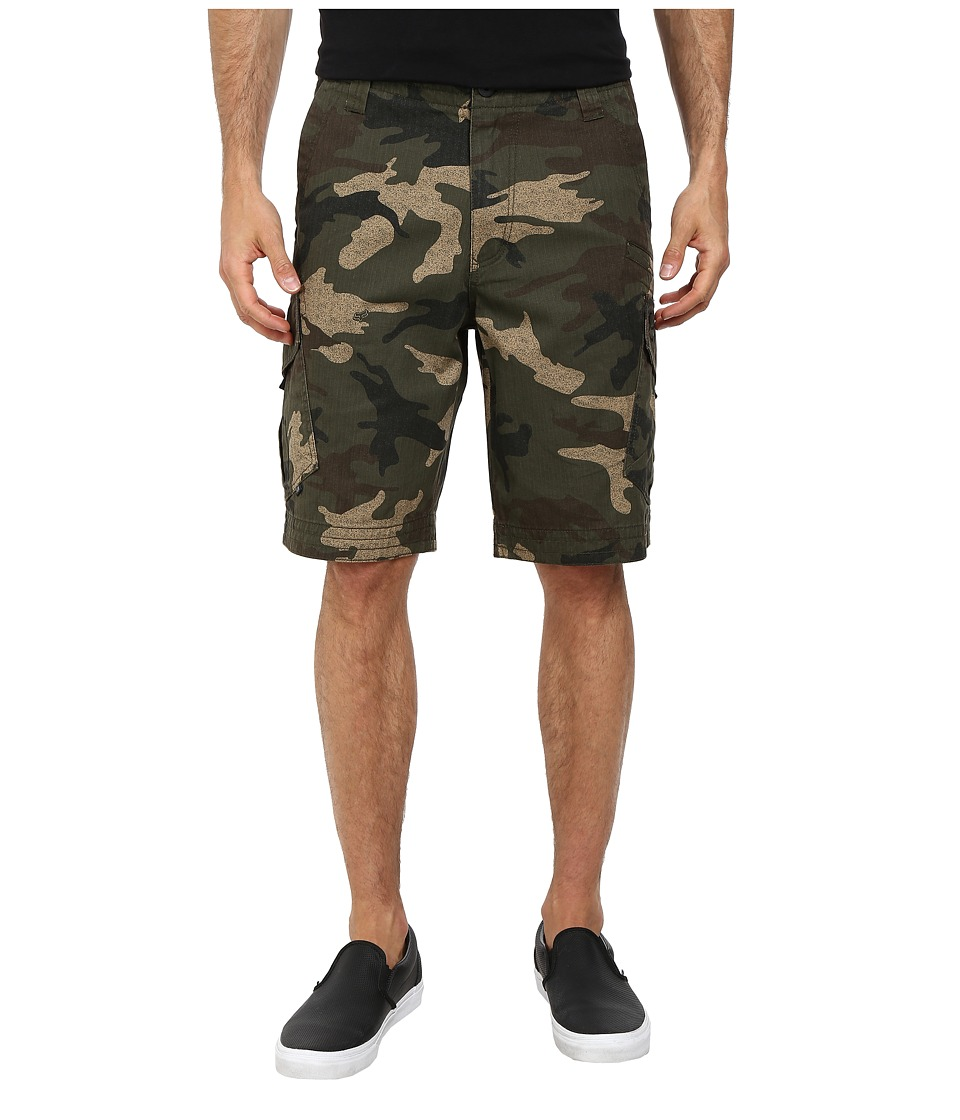 Fox - Slambozo Cargo Camo Shorts (Green Camo) Men's Shorts