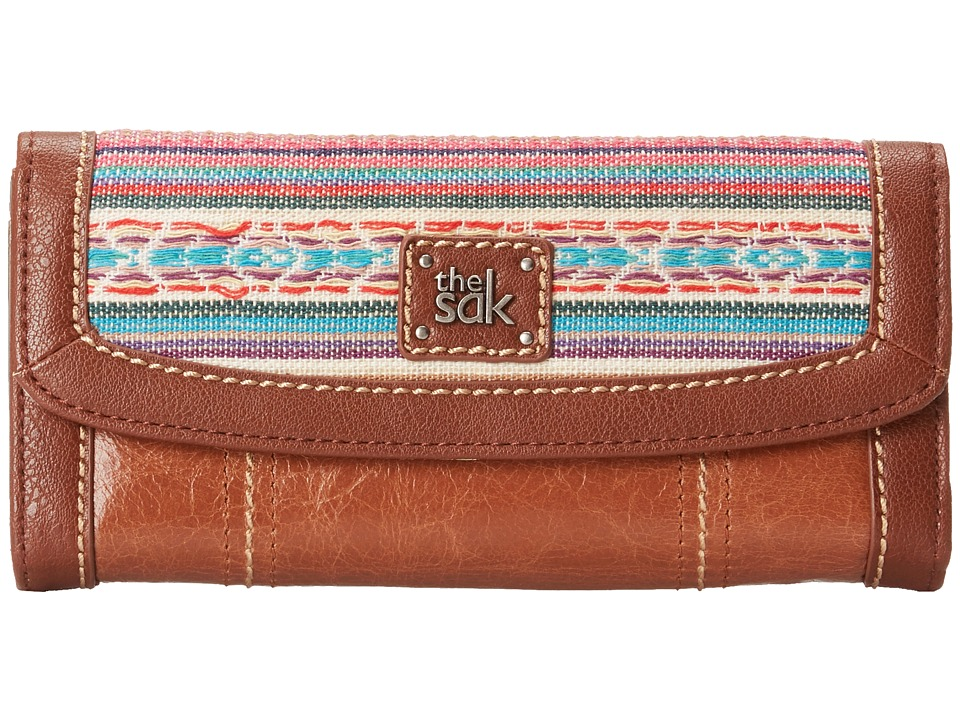 The Sak - Iris Flap Wallet (Pink Loom) Wallet Handbags