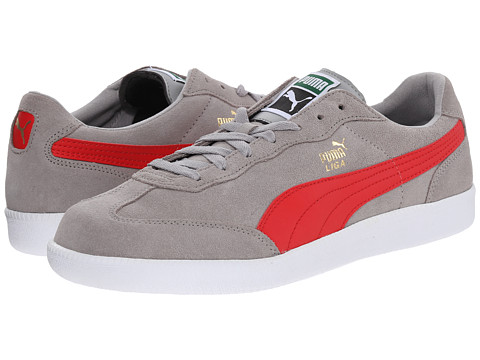 PUMA - Liga (Drizzle/High Risk Red/White) Men's Lace up casual Shoes