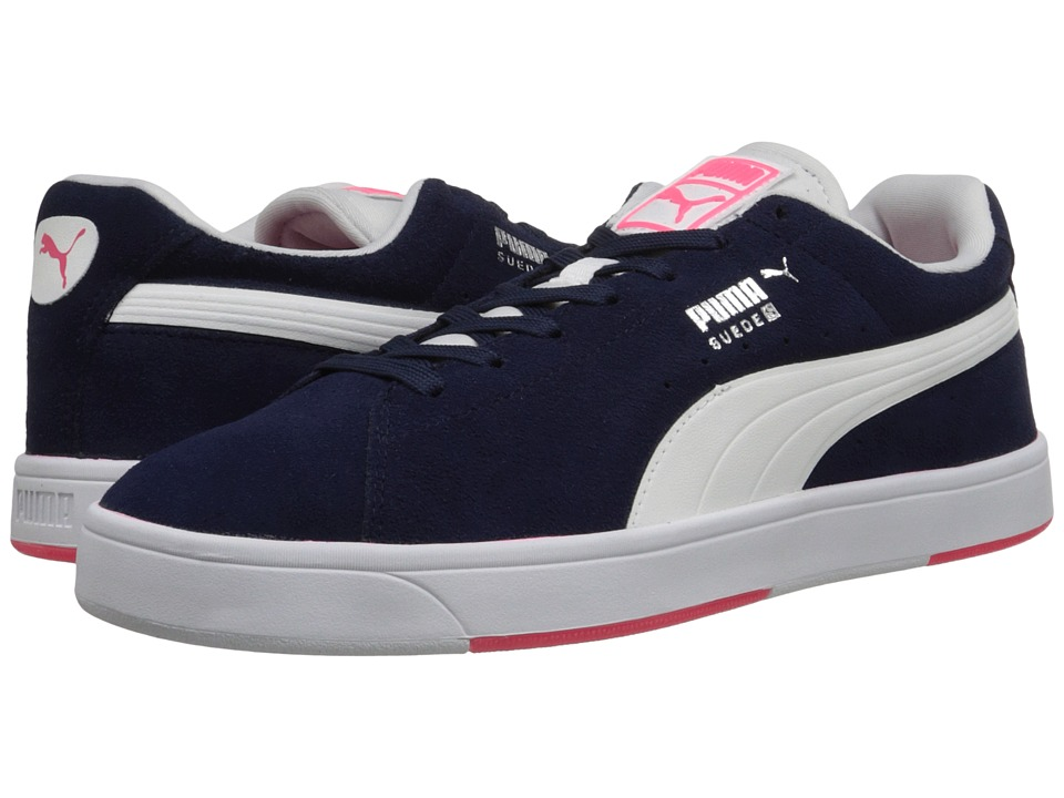 PUMA - Suede Skate (Peacoat/White) Men's Shoes