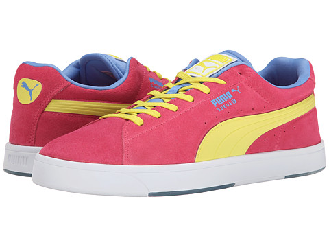 PUMA - Suede Skate (Fluo Pink/Fluro Yellow Co) Men