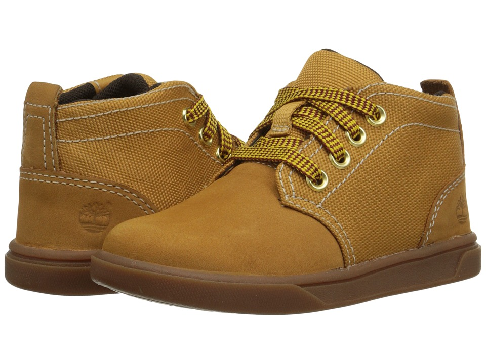 Timberland Kids - Groveton Chukka Leather and Fabric (Toddler/Little Kid) (Wheat) Boys Shoes