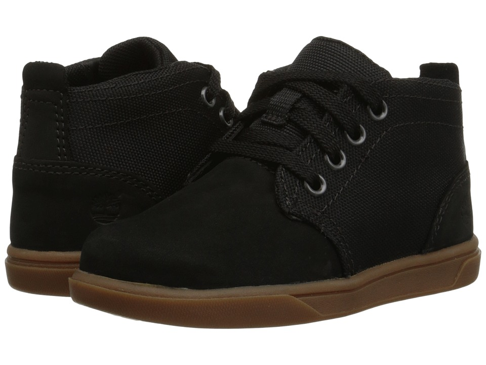 Timberland Kids - Groveton Chukka Leather and Fabric (Toddler/Little Kid) (Black) Boys Shoes