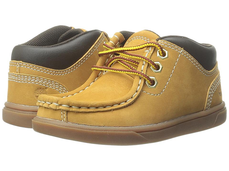 Timberland Kids - Groveton Leather Moc Toe Chukka (Toddler/Little Kid) (Wheat) Boys Shoes