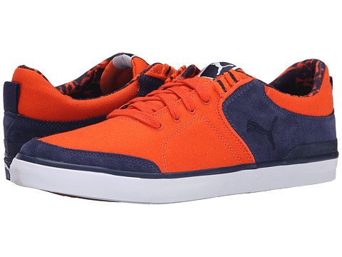 PUMA - Funist Slider Vulc Mat Pack (Vermillion Orange/Peacoat/Gum) Men's Lace up casual Shoes