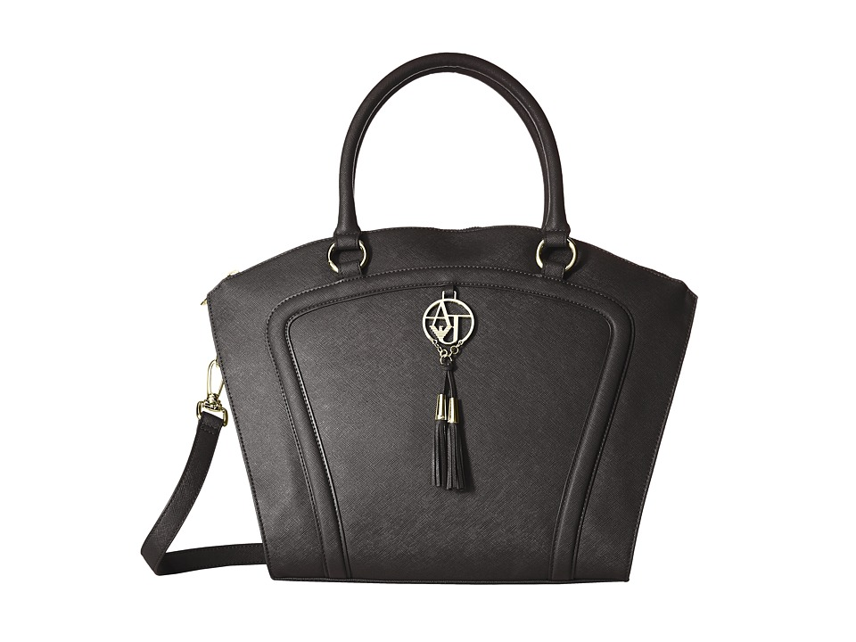 Armani Jeans - Saffiano Tassel Bugatti (Black) Handbags