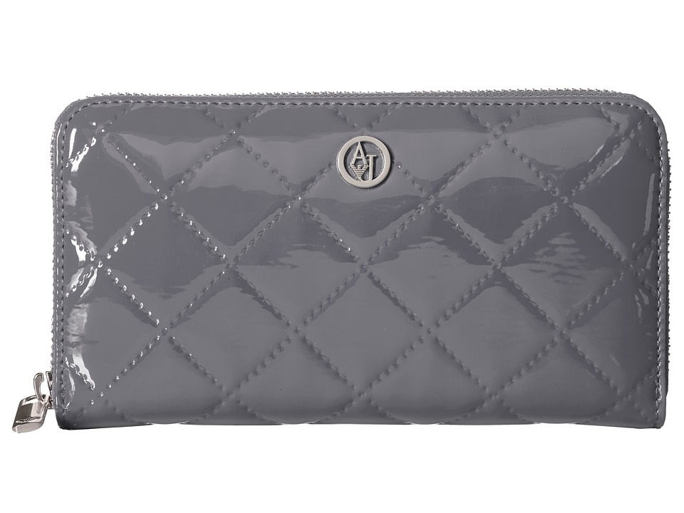 Armani Jeans - Quilted Patent Fold Wallet (Grey) Wallet Handbags