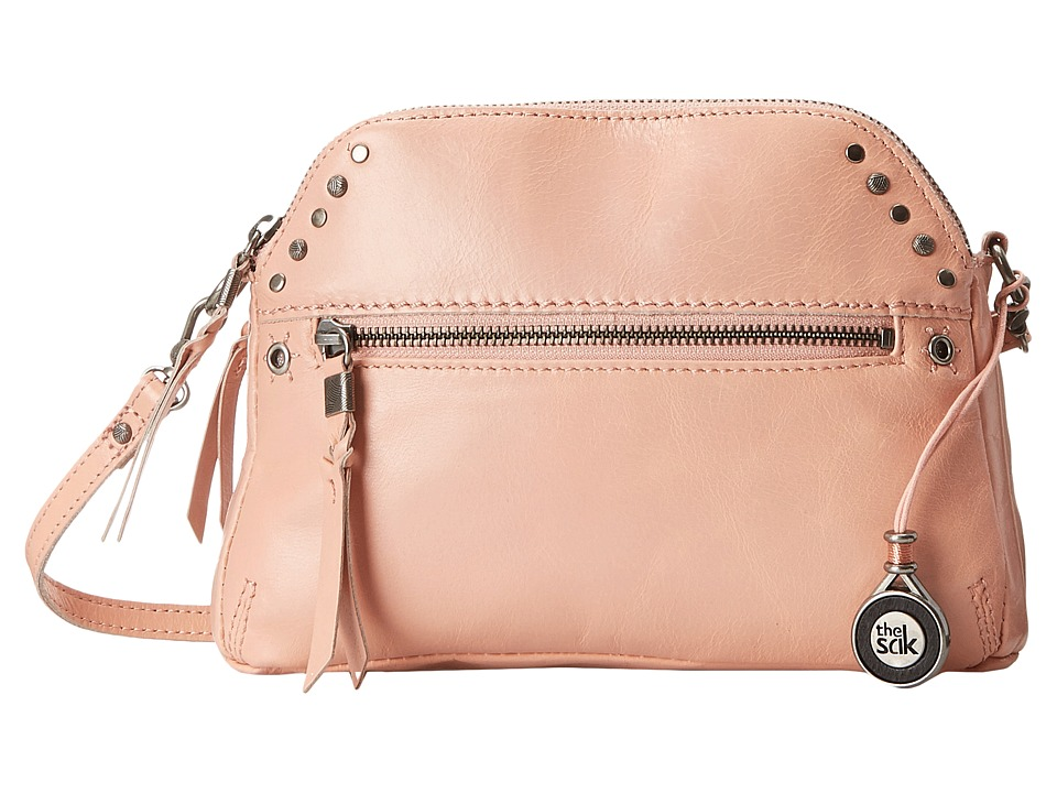 The Sak - Dorado Double Zip Crossbody (Apricot) Cross Body Handbags
