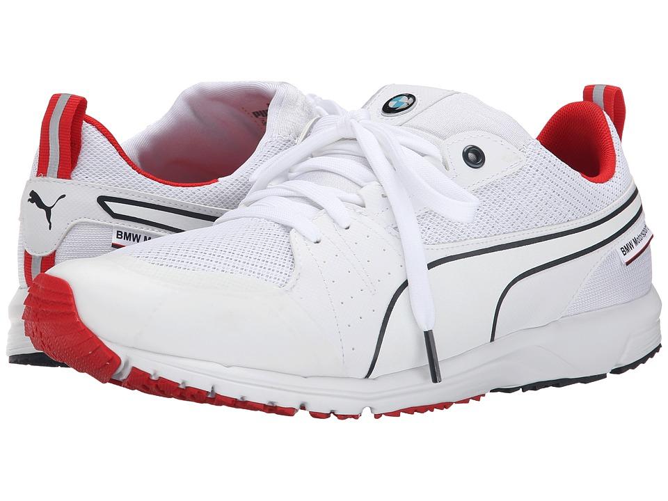 PUMA - BMW MS Pitlane Nightcat (White/High Risk Red) Men's Shoes
