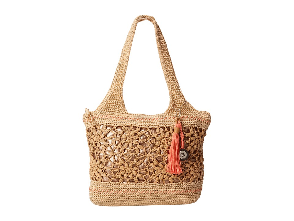 The Sak - Casual Classics Large Tote (Natural Flower) Tote Handbags