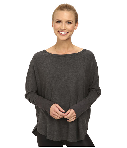MPG Sport - Peace (Heather Charcoal) Women's Long Sleeve Pullover