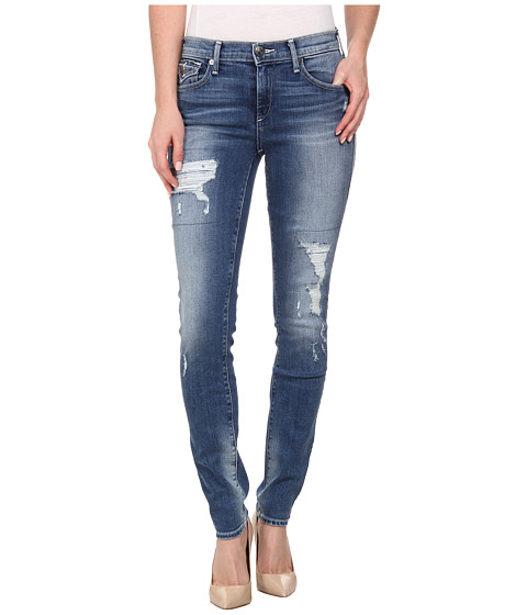 True Religion - Mid Rise Halle Distressed in Dusty Bleachers (Dusty Bleachers) Women's Jeans