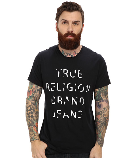 True Religion - Stripes Tee (Onyx) Men