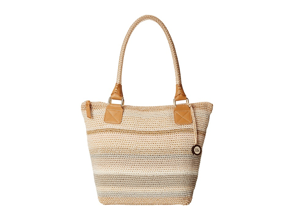 The Sak - Cambria Large Tote (Sand Stripe) Shoulder Handbags