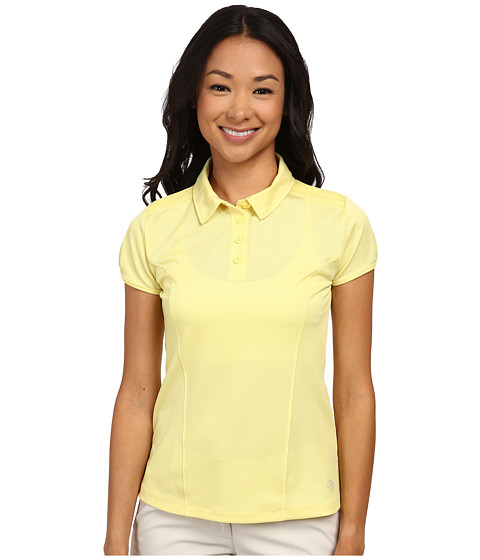 MPG Sport - Loft (Soft Yellow) Women's Short Sleeve Knit