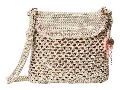 The Sak - Kearny Crossbody (Eggshell/Bronze Sequin) Cross Body Handbags