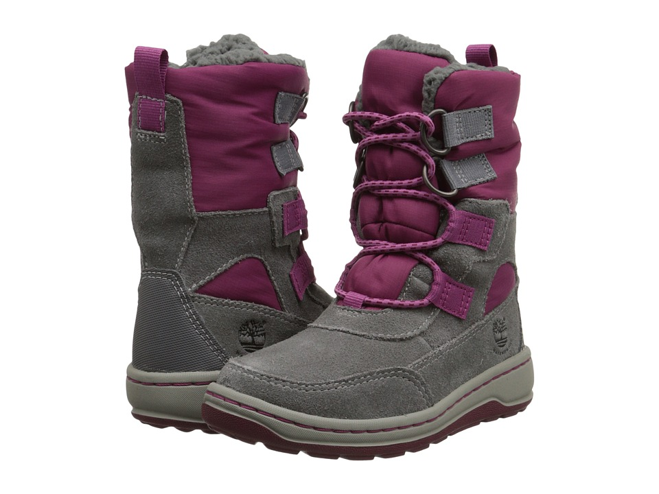 Timberland Kids - Winterfest Waterproof Boot (Toddler/Little Kid) (Grey) Girls Shoes